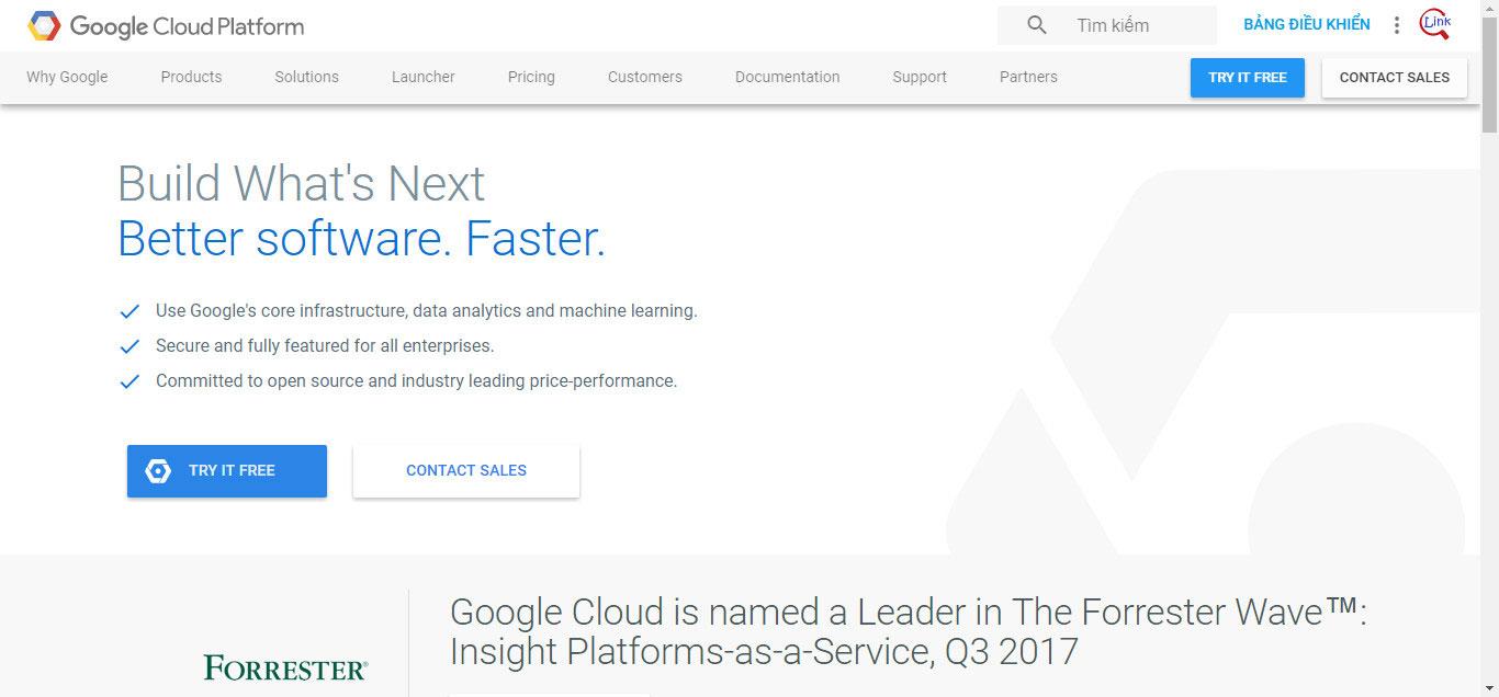 Đăng ký Google Cloud