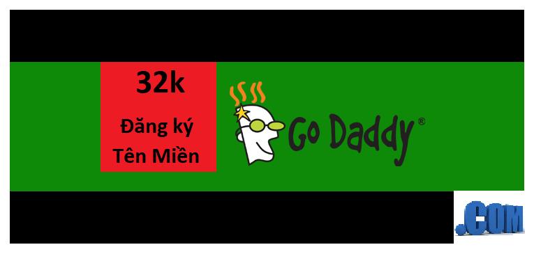 Khuyến mại Godaddy tên miền .COM