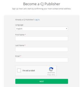 đăng ký tài khoản Pulisher CJ.com