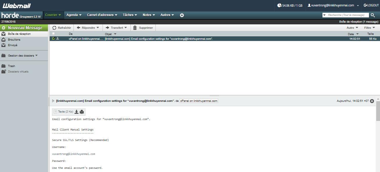 Tạo Email đuôi tên miền trên Cpanel