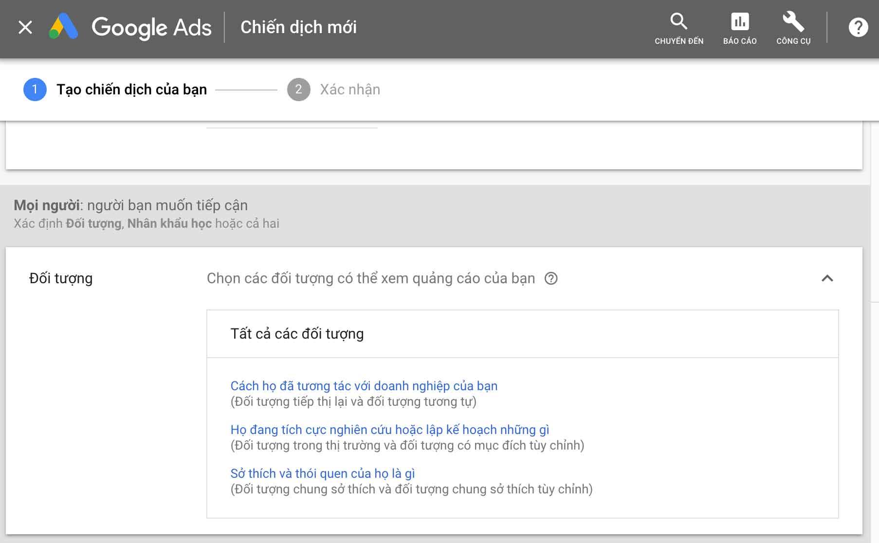 Chạy quảng cáo remarketing trên google