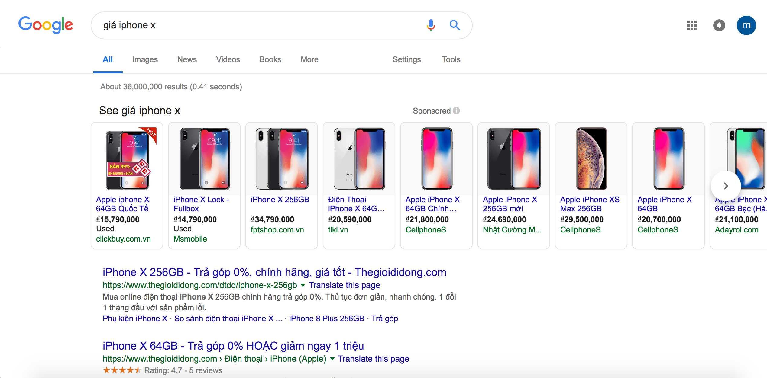 Google Shopping là loại hình quảng cáo mới trên thanh search Google
